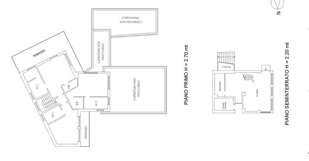 Pianta Piano Primo - Bedrooms